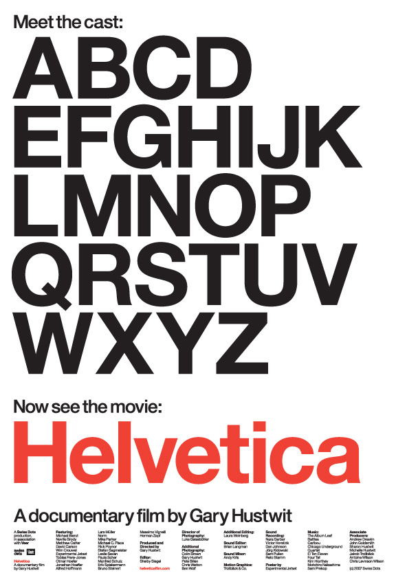 helvetica the movie poster